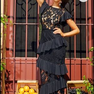 Long lace maxi dress